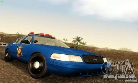 Ford Crown Victoria Michigan Police pour GTA San Andreas