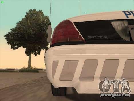Ford Crown Victoria Vancouver Police für GTA San Andreas Innen