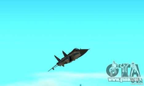 MiG-31 Foxhound für GTA San Andreas obere Ansicht