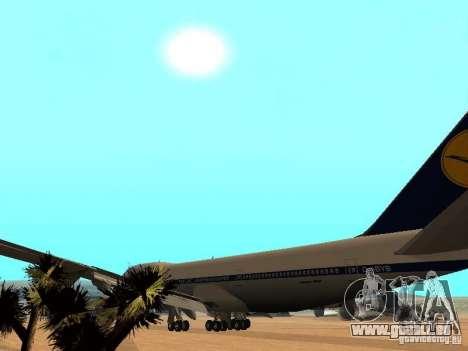 Boeing 747-100 Lufthansa für GTA San Andreas Innenansicht
