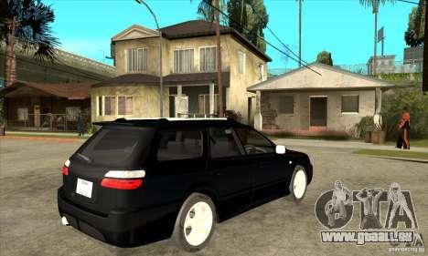 Subaru Legacy Station Wagon pour GTA San Andreas vue de droite