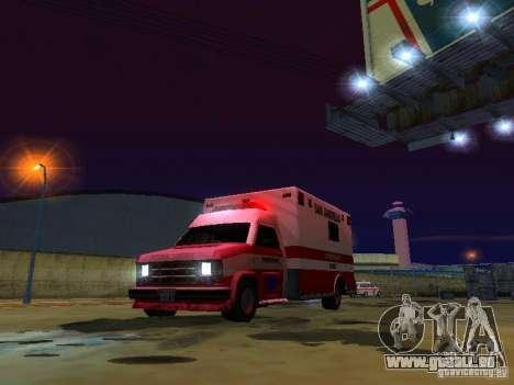 Ambulance 1987 San Andreas pour GTA San Andreas vue de dessus