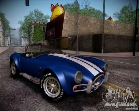 Shelby Cobra 427 Full Tunable pour GTA San Andreas vue de dessous