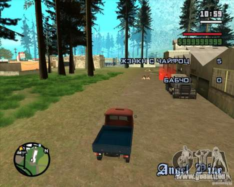 Arbres de Noël Razvozčik pour GTA San Andreas troisième écran