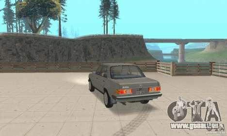 Mercedes-Benz 230 W123 pour GTA San Andreas laissé vue