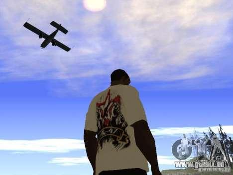 T-Shirt NoGGano228 und AK 47 für GTA San Andreas fünften Screenshot