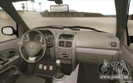 Renault Clio V6 pour GTA San Andreas vue de dessous