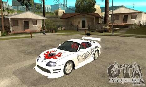 Toyota Supra NFSMW Tunable für GTA San Andreas obere Ansicht