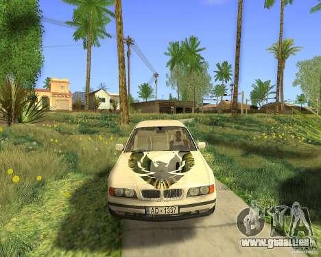 BMW 730i E38 1996 pour GTA San Andreas vue arrière