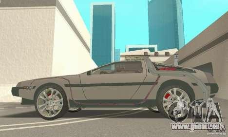 DeLorean DMC-12 (BTTF3) für GTA San Andreas rechten Ansicht