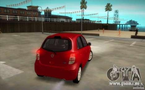 Nissan Micra 2011 für GTA San Andreas rechten Ansicht