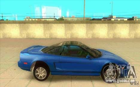 Honda NSX 1991 stock pour GTA San Andreas laissé vue