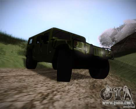 Hummer H1 Alpha pour GTA San Andreas vue arrière