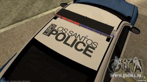 Dodge Charger Los-Santos Police für GTA San Andreas Rückansicht