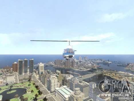 Bell 206 B - NYPD für GTA 4 Seitenansicht