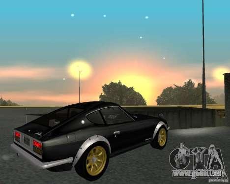 Nissan  Fairlady 240ZG für GTA San Andreas Rückansicht