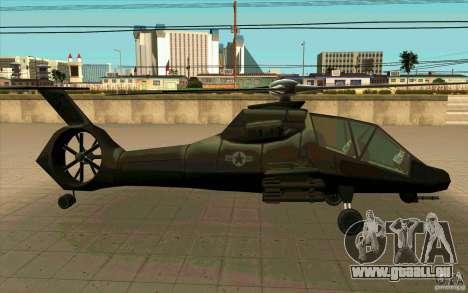 Sikorsky RAH-66 Comanche stealth green für GTA San Andreas rechten Ansicht