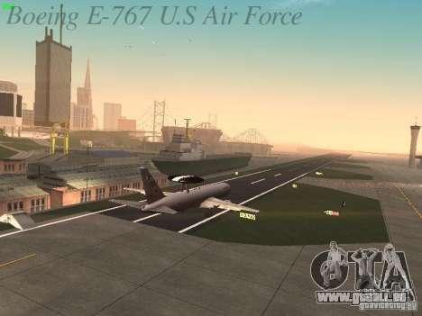 Boeing E-767 U.S Air Force pour GTA San Andreas vue de dessus
