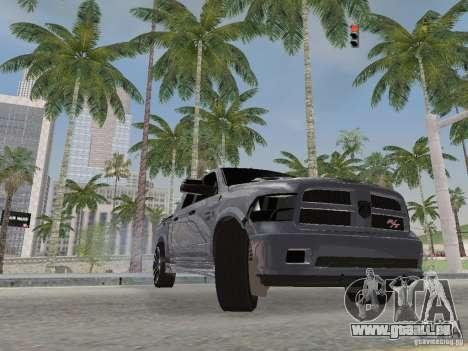 Dodge Ram R/T 2011 pour GTA San Andreas vue intérieure