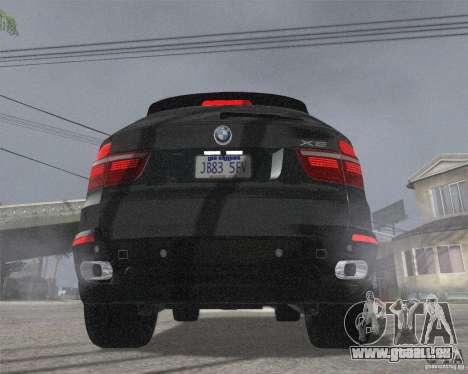 BMW X5 2009 Tune pour GTA San Andreas sur la vue arrière gauche