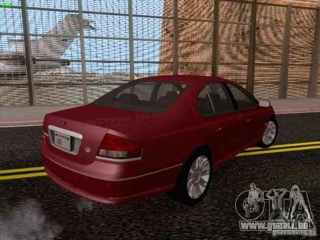 Ford Falcon Fairmont Ghia pour GTA San Andreas vue arrière