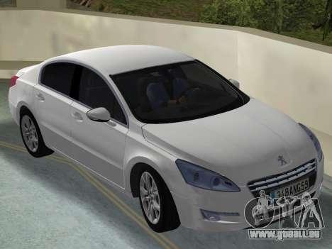 Peugeot 508 e-HDi 2011 pour une vue GTA Vice City de la droite