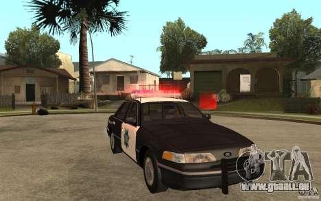 Ford Crown Victoria SFPD 1992 pour GTA San Andreas vue arrière