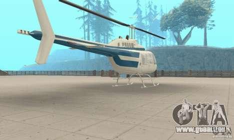 Bell 206B JetRanger II pour GTA San Andreas laissé vue