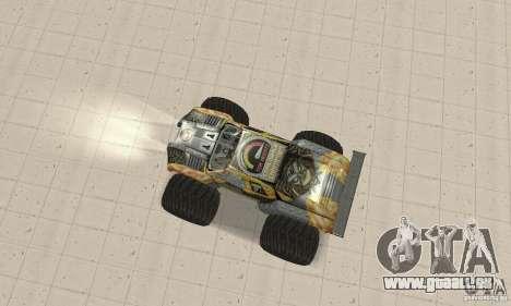 Monster Truck Maximum Destruction pour GTA San Andreas sur la vue arrière gauche