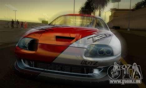 Toyota Supra JZA80 RZ Dragster für GTA San Andreas Unteransicht