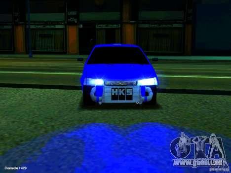VAZ 21099 Turbo pour GTA San Andreas sur la vue arrière gauche