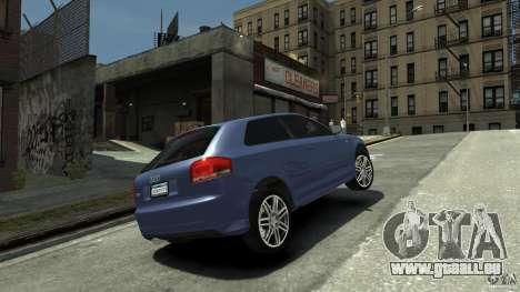 Audi S3 2006 v1.1 tonirovanaâ pour GTA 4 Vue arrière de la gauche