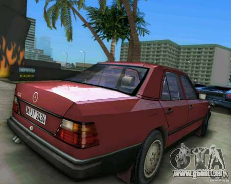 Mercedes-Benz E190 pour GTA Vice City sur la vue arrière gauche