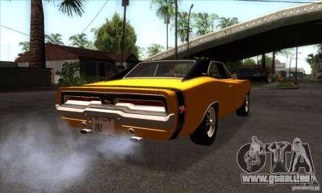 Dodge Charger RT 1969 pour GTA San Andreas vue de droite