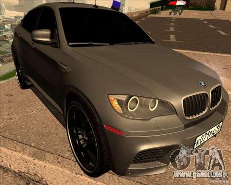 BMW X6 M E71 für GTA San Andreas Rückansicht