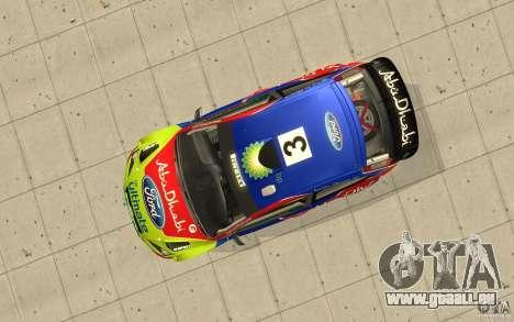 2 Werke für den Ford Focus RS WRC 08 für GTA San Andreas zurück linke Ansicht
