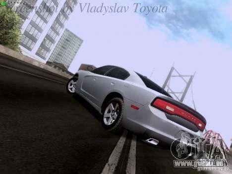 Dodge Charger 2013 pour GTA San Andreas vue arrière