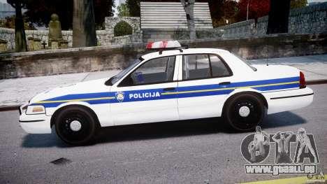 Ford Crown Victoria Croatian Police Unit pour GTA 4 est une gauche