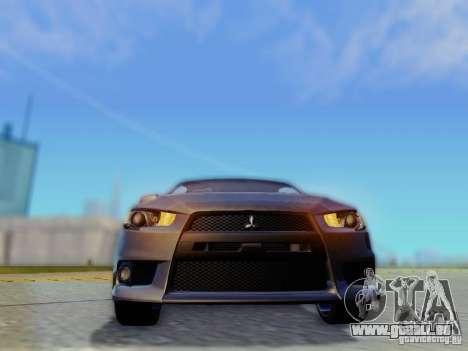 Mitsubishi Lancer Evolution X für GTA San Andreas Innenansicht
