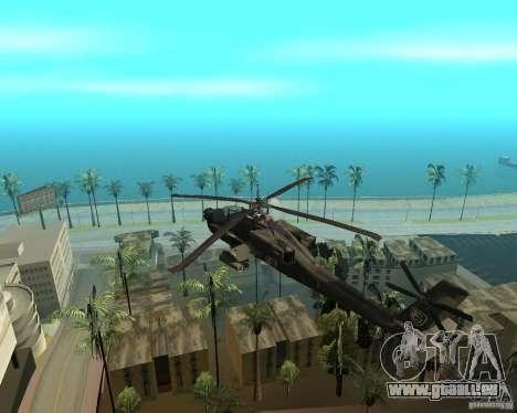 Ka-50 Black Shark für GTA San Andreas zurück linke Ansicht