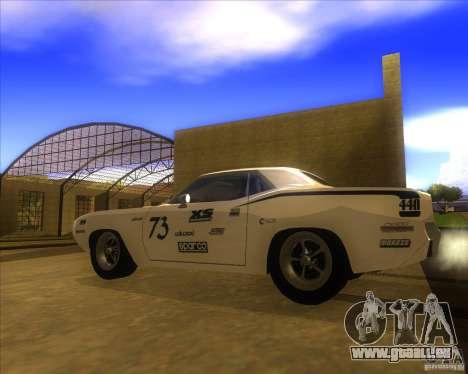 Plymouth Hemi Cuda für GTA San Andreas linke Ansicht