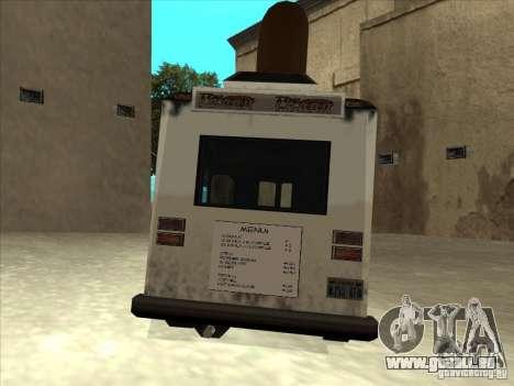 Donut Van pour GTA San Andreas vue arrière