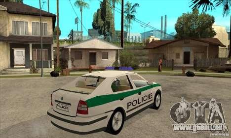 Skoda Octavia Police CZ für GTA San Andreas rechten Ansicht
