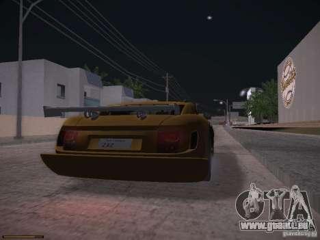 TVR Cerbera Speed 12 pour GTA San Andreas laissé vue