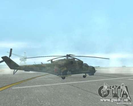 Mi-24p pour GTA San Andreas laissé vue