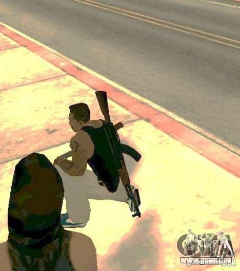 Armes sur les corps pour GTA San Andreas quatrième écran