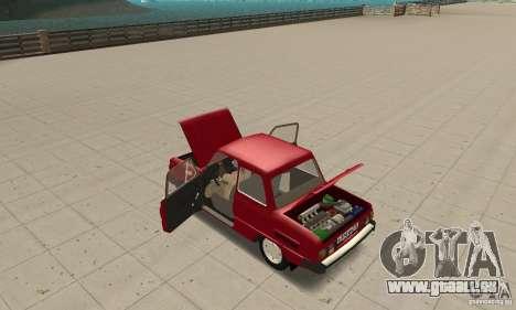 ZAZ 968 m pour GTA San Andreas vue intérieure
