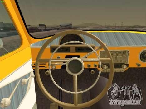 GAZ 22 pour GTA San Andreas vue de dessous