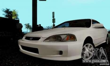 Honda Civic 1999 Si Coupe pour GTA San Andreas vue de côté