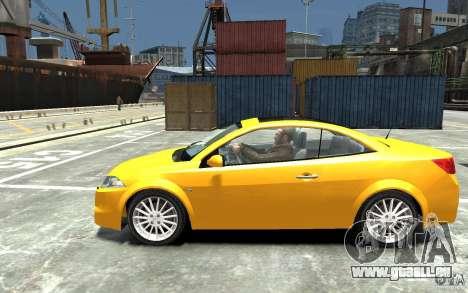 Renault Megane CC Kit RS pour GTA 4 est une gauche